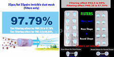 50pcs Nasal Mask Nose Filter Rhinitis Pollen Asthma Allergy Dust 2.5μ INVISIBLE