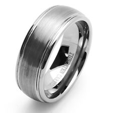 8MM Comfort Fit Tungsten Carbide Wedding Band Domed Ring / Free Gift Box