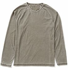 John Varvatos Star USA Men's Long Sleeve Washed Raglan Crew Tee Shirt Army NWT