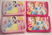 NEW GIRL'S/CHILDRENS/KIDS DISNEY PRINCESS PINK PICTURED ZIPPED GIFT PURSE/WALLET