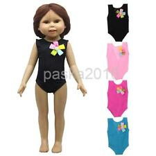 Fashion Flower One-piece Swimwear Swimsuit Outfit for 18inch American Girl Doll