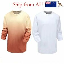 Men's Long Sleeve Causal T-Shirts Slim Fit Tee Tops Breathable Tee Shirts