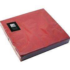 3 Ply Burgundy Paper Napkins 33 x 33cm Square Party Serviettes Tableware Cater