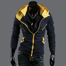 Hot Men's Casual Fashion Slim Fit Sexy Top Designed Hoodies Jackets Coats v30