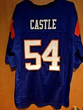"""Kevin """"Thad"""" Castle Blue Mountain State Football Jersey Blue Stitched 2XL XXL"""