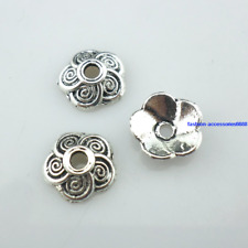 50/100/800pcs Tibetan Silver End  Flower Bead Caps Charms Jewelry Findings 9x3mm
