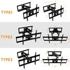 DUAL ARM FULL MOTION TILT LCD LED TV WALL MOUNT BRACKET 32 37 40 42 46 48 50 52