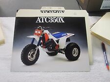 NOS Honda 1986 ATC350X 350X  DEALER SALES BROCHURE