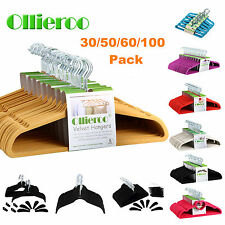 Ollieroo 30-100 Space Saving Non-Slip Velvet Thin Clothes Shirt Suit Hangers Lot