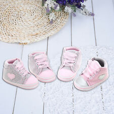 Baby High Top Sneakers Newborn Autumn Lace-Up Shoes Girls Soft Sole First Walker