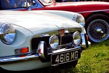 MG classic sports car front view color photograph picture photo poster art print