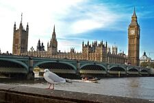Houses of Parliament Westminster Bridge London photograph picture poster print