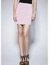 LADIES PINK AND WHITE STRIPE JERSEY MINI SKIRT BY LOVE LABEL SIZE 12 AND 14 BNWT