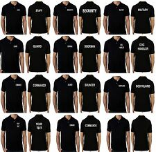 Mens Work Wear Uniform Polo T-shirts Personalised Custom Front Back Printed Text