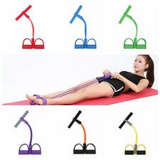 2 Tube Foot Pedal Pull Rope Resistance Exercise Yoga Sit-up Fitness Equipment