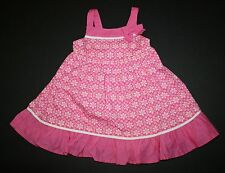 New Gymboree Outlet Pink Floral Print Bow Summer Dress NWT 12-18m 18-24m Girls
