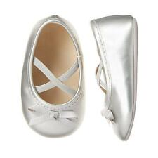 NWT Gymboree Snow Cozy Silver Baby Girls Ballet Crib Shoes Size 1 2