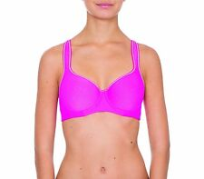 TRIUMPH TRIACTION RACERBACK SPORTS BRA 2 PACK Pink/Peach Sz 10-14 NEW RRP $49.95