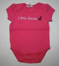 New Gymboree Outlet Pink Bodysuit Top Little Sister NWT Newborn 3m 6m 9m Anchor