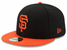 New Era San Francisco SF Giants 2017 ALT 59Fifty Fitted Hat (BK/OR) MLB Cap