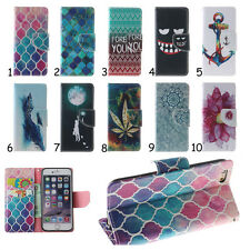 Fashion Stand Flip Leather Wallet Case Rubber Soft Cover Skin For Mobile Phones