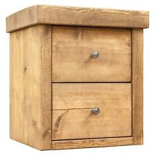 Rustic Bedside Tables   Solid Wood Pine   Funky Chunky Furniture   2 Drawer
