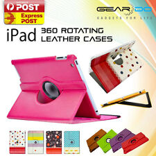 360 Rotating Leather Smart Cover Case for Apple iPad 4 3 2 iPad Air iPad Mini