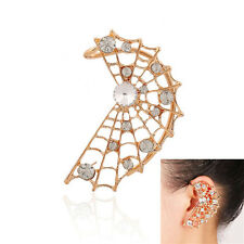 Earring Stud 1Pcs Cuff Crystal Halloween Pierced Wrap Punk Spider Ear Clip