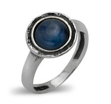 Fine 925 Sterling Silver Ring Cocktail Ring kyanite blue Women's Ring