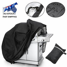 AU STOCK BBQ Waterproof Gas Grill Cover Black Barbecue Heavy Duty Outdoor Weber