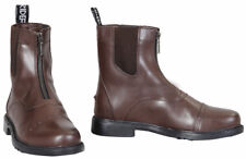 Tuffrider Baroque Front Zip Paddock Riding Boots in Full Grain Leather Ladies