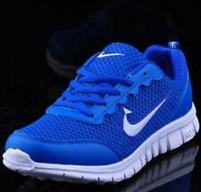 NEW Men Outdoor sports shoes Fashion Breathable Sneakers BLUE WHITE US9.5/EUR43