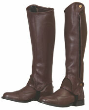 Tuffrider Grippy Grain Half Chaps with Elasticated Leg Fit for Adults