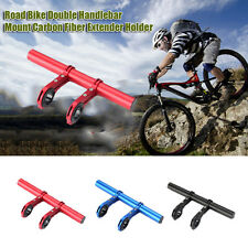 Outdoor Cycling Bike Double Handlebar Extension Mount Bicycle Light Holder