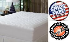 Hypoallergenic Quilted Mattress Topper Pad Fitted Deep Pocket Protector Cotton