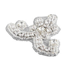 Shiny Diamante Rhinestone Iron On Motif Wedding Dress Applique Trim Beaded Patch