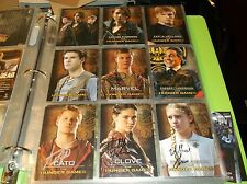 THE HUNGER GAMES AUTOGRAPHED TRADING CARDS +COAS JENNIFER LAWRENCE HUTCHERSON