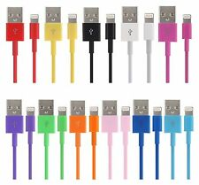 COLOUR FULL Charging Cable Lightning USB & Sync Data Cable Lead for iPhone iPad