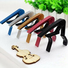 Electric Clamp Clamp Key Capo Quick Change For Acoustic Silver Classic Guitar