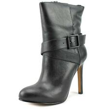 Aldo Zaelle Women  Round Toe Leather Black Mid Calf Boot