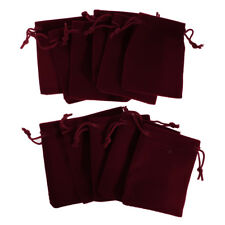 10 pieces Velvet Bags Party Gift  Jewelry Pouches for Wedding 7 *9CM