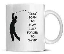 Personalised Printed Novelty Golf Mug Coaster Mouse Mat Ideal Christmas Gift Set