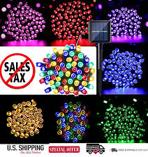 Solar Powered 100 LED String Fairy Light Outdoor Garden Wedding Party 7 Colors
