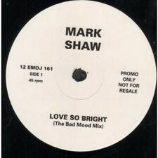 "MARK SHAW Love So Bright 12"" VINYL UK Emi 1990 3 Track White Label Promo"