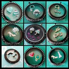 Origami Owl Just Married Wedding Dress Shoe & Cake Wedding Ring I Do Bouquet