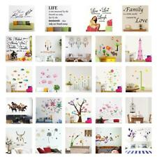 Animals Trees Flowers Word PVC DIY Wall Stickers Mural Home Decor Bedroom Decal