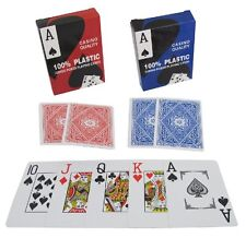 100% Plastic Blue or Red Jumbo Index Poker Playing Card - FREE POSTAGE