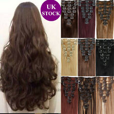 THICK 120g Full Head Clip in Remy Real Human Hair Extensions 8PCS Any Color C410