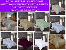 1000TC Egyptian Cotton Sateen Hotel Grade Deluxe 4pcs Sheet Sets