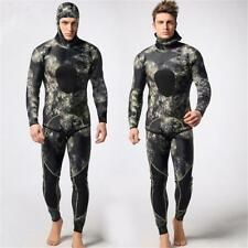 Men 3mm Neoprene Two-piece Wetsuit Suit for Diving Snorkeling Swim Spearfishing